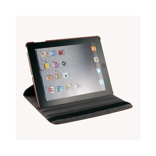 Brown 360° Rotating Leather Case Cover With Swivel Stand