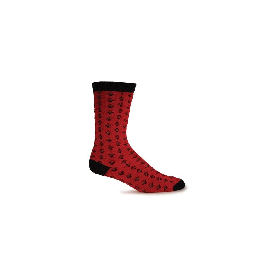 Goodhew ND2W500 Womens Claudia Merino Wool / Bamboo Crew Sock (Set of 2) Color Red, Size Medium