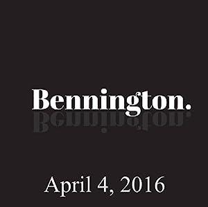 Bennington, April 4, 2016 Radio/TV Program