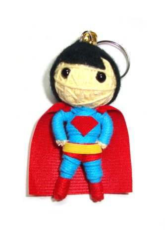 Superman Man of Steel Voodoo String Doll Keyring Keychain