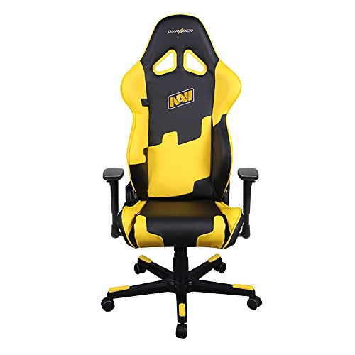 DXRacer-Racing-Series-DOHRE21NYNAVI-Natus-Vincere-Racing-Bucket-Seat-Office-Chair-Gaming-Chair-Ergonomic-Computer-Chair-eSports-Desk-Chair-Executive-Chair-Furniture-With-Pillows
