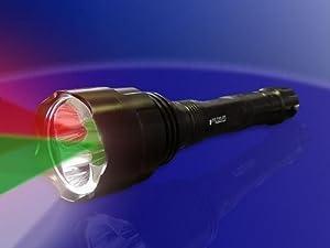 LED Taschenlampe Weiss/ Grün + Rotlicht  Kundenbewertung und weitere Informationen