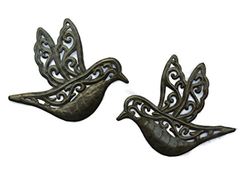 Dove, Flying Birds, Metal Art Haiti, Engraved Inspirational Wall Art (set of 2) 7