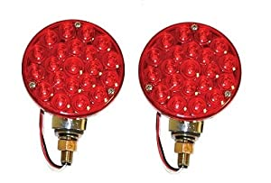 EMPI 16-9552 L.E.D. OFF-ROAD TAIL LIGHTS W/RED LENS, PAIR SAND RAIL, BAJA, DUNE BUGGY