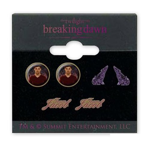 "Neca Twilight Breaking Dawn - Earrings - 3 Pack ""Team Jacob with Wolves"" - 1"