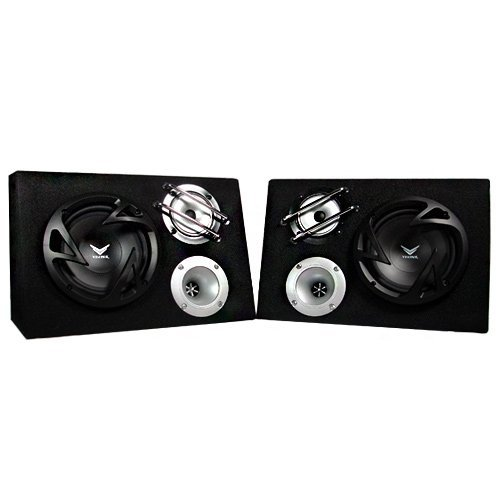 Visonik Vp6Tbx 6.5 Inch 400 Watt 3-Way Car/Truck Sub Enclosure Speaker System
