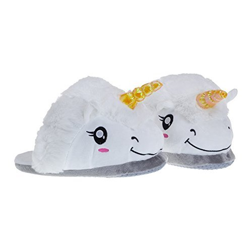 luffystore-fantasy-white-unicorn-soft-plush-cotton-slippers-slip-on-suitable-for-adult-size-eur-size