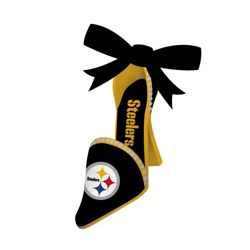 Team Shoe Ornament, Pittsburgh Steelers