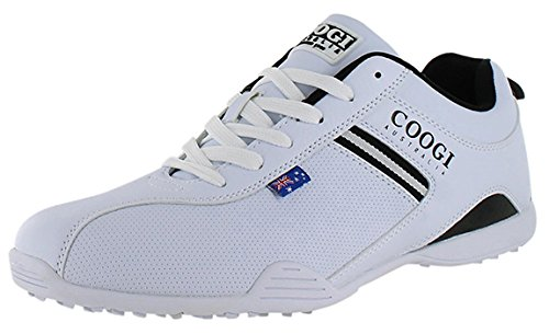 Coogi Men's Cooper White/Black Sneaker US 8 NIB