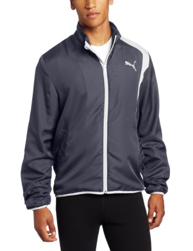 PUMA Puma Men's Woven Track Jacket, Ebony, X-Large