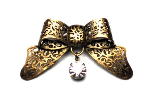 PILGRIM 318-005 Brosche, vergoldet, kristall