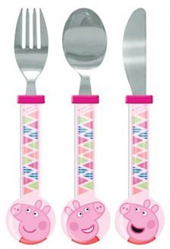 Peppa Pig Children's 3 Piece Cutlery - Tea Party