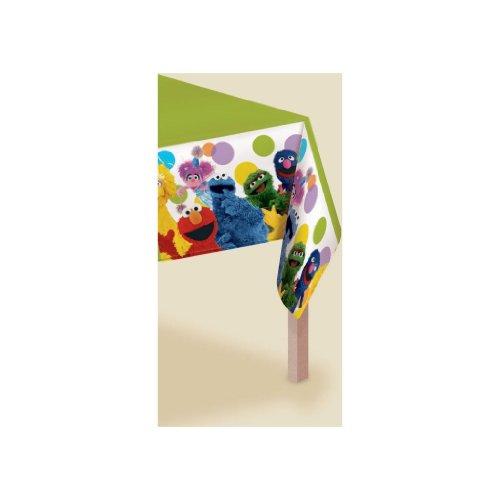 Sesame Street Party - Plastic Tablecover Kids' Party Supplies Accessory (14 x 6.2 x 0.2 inches) Jouets, Jeux, Enfant, Peu, Nourrisson