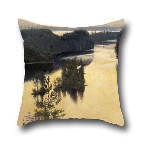 Oil Painting Albert Edelfelt - Kaukola Ridge At Sunset Pillow Shams ,best For Christmas,husband,son,car Seat,christmas,wife 18 X 18 Inches / 45 By 45 Cm(twin Sides)