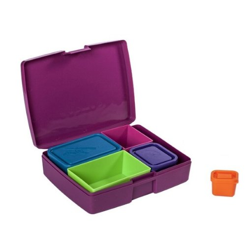 Laptop Lunches Bento ware Laptop Lunches Bento Ware, Made in the USA, Leak Proof Containers, Fun Colors
