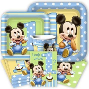 Baby Mickey Mouse 1St Birthday Party Pack Supplies For 16 Guests front-1013082