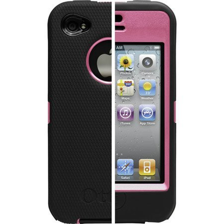 New Iphone 4 Case Otterbox Defender Series Apple Iphone 4g Black Pink Silicone Skin by OtterBox