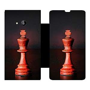Skintice Designer Flip Cover with Vinyl wrap-around for Microsoft Lumia 535, Design - chess