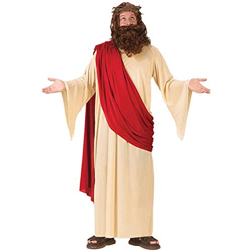 Adult Jesus Costume Buddy Christ Halloween Easter with charm
