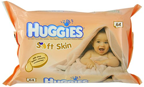 Huggies Soft Skin Baby Wipes with Shea Butter 64 Count Case of 6 - 1