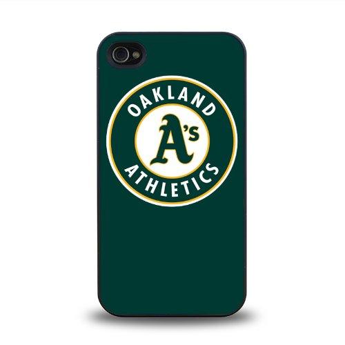 Mlb American League Oakland Athletics Team Logo #2 Matt Feel Hard Plastic Iphone 4 4S Case Protective Skin Cover