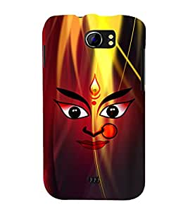 Durge Maa 3D Hard Polycarbonate Designer Back Case Cover for Micromax Canvas 2 A110 :: Micromax Canvas 2 Plus A110Q