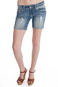 Miss Me Embellished Mid thigh Short