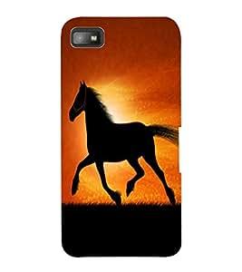 ColourCraft Magnificent Horse Design Back Case Cover for BLACKBERRY Z10