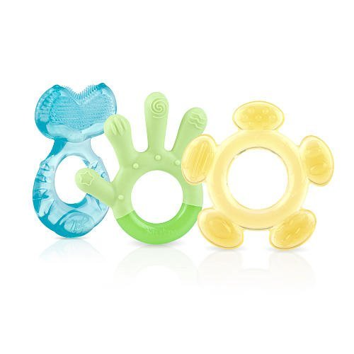 Nuby 3 Step Soothing Teether Set, BPA Free - Boy