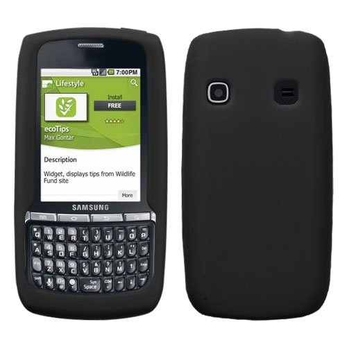 41TZqCqep9L Soft Silicone Skin Case(Black) For SAMSUNG M580(Replenish)
