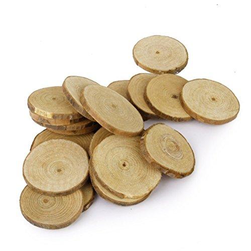 vorcool 20stk runde naturholzscheiben deko holz 5 6 cm europaletten kaufen. Black Bedroom Furniture Sets. Home Design Ideas