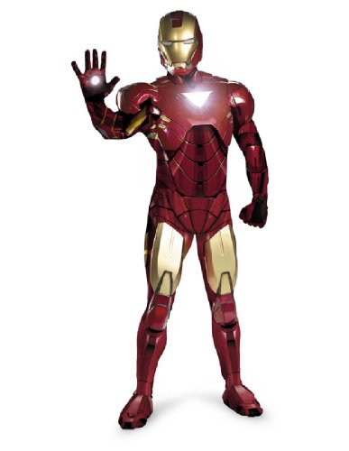 Disguise Men's Iron Man Rental Quality Costume