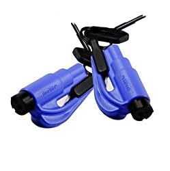 resqme The Original Keychain Car Escape Tool, Made in USA (Blue) - Pack of 2