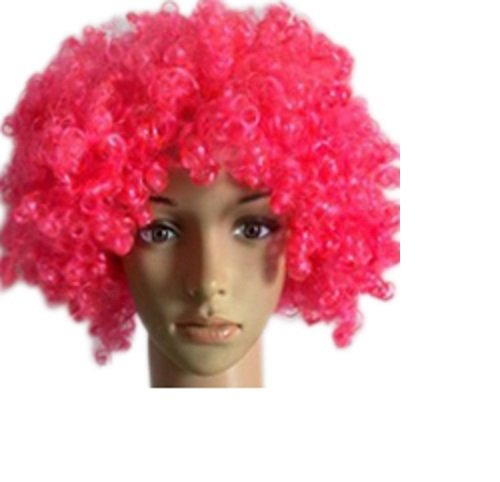 Bliss Pro's Pink Children's Afro Wig Halloween Costume Party Wig 70's 80's Retro