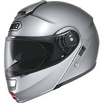 Shoei Metallic Neotec Road Race Motorcycle Helmet - Light Silver / Medium