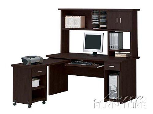 Buy Low Price Comfortable New Espresso Finish Computer Desk / Hutch Set ACS004692 004693 004694 (B004SPFIY6)