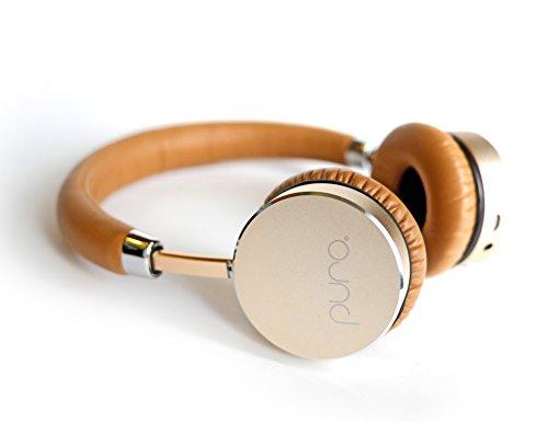 Puro Sound Labs BT5200 Studio Grade Bluetooth Wireless Headphones, The Healthy Headphone (Gold/Tan)