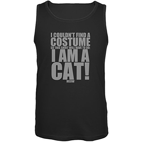Halloween Cheap Cat Costume Black Adult Tank Top