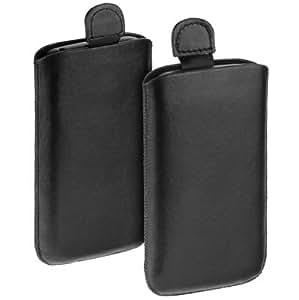 yayago Elegantes Easy Etui Tasche schwarz für Samsung Galaxy S i9003 SL und Samsung Galaxy S3 mini i8190