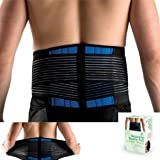 Brand New Deluxe Neoprene Double Pull Lumbar Lower Back Support Brace Exercise Belt (L (33-40