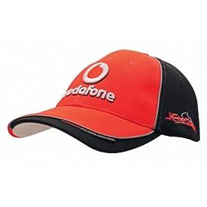 Vodafone mclaren mercedes jenson driver cap for Mercedes benz hat amazon