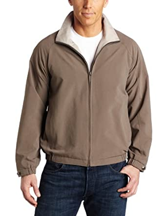 Perry Ellis Men's Microfiber Blouson Jacket, Willow, Small