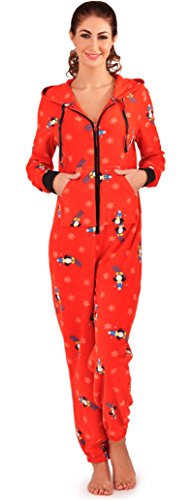 Loungeable-Womens-Cute-Skiing-Penguin-Onesie-All-In-One-Soft-Micro-Fleece-Sleepsuit