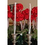 10 Inch Glass Oil Tapers - Candlesticks - Set of 2
