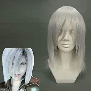 Short Final Fantasy-Kadaj White Anime Cosplay wig COS-077A