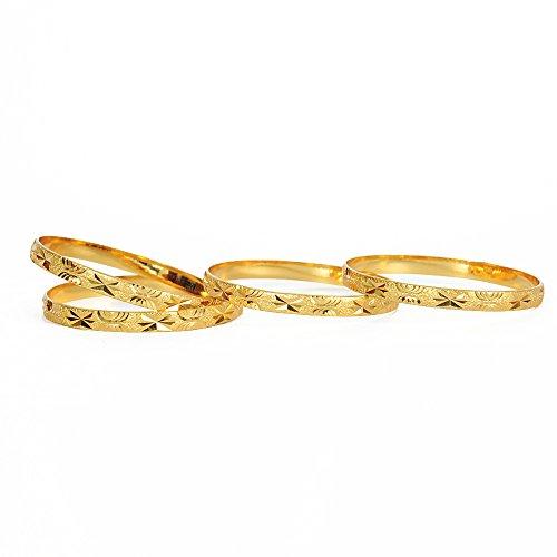Jewbang Gold Plated Bangle Set Women Gold Jb775A
