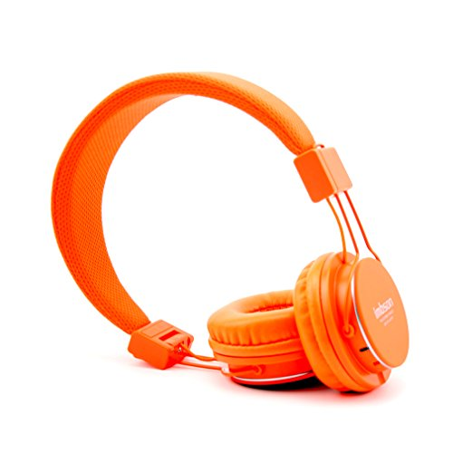 Granvela Imbson A802 Foldable Headphone Headset New Fashion Brand Music Player Wireless Handsfree Headset Headphones Earphone,Support Tf Card Fm Radio Monitor Portable Audio Pc --Orange