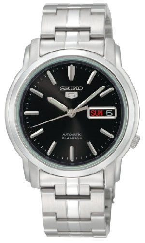 Seiko Men's SNKK71 Seiko 5 Automatic Black Dial