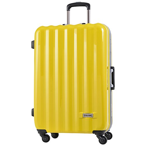 SPALDING スーツケース スポルディング TSAロック 50mmグリスパックキャスター ハードキャリーSP-0656-66 (イエローカーボン)