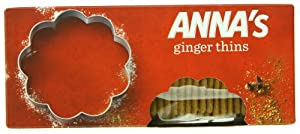 Anna's Thins, Ginger, 5.25-Ounce Boxes (Pack of 12)